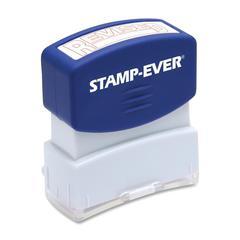 """U.S. Stamp & Sign Pre-inked Stamp - Message Stamp - """"REVISED"""" - 0.56"""" Impression Width x 1.69"""" Impression Length - 50000 Impression(s) - Red - 1 Each"""