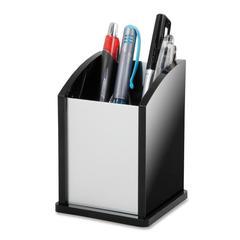 Pencil/Pen Cup - Acrylic, Aluminum - 1 / Each - Black, Aluminum