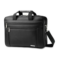 "Samsonite Classic Carrying Case (Briefcase) for 17"" Notebook - Black - Ballistic Fabric - Handle, Shoulder Strap - 12.5"" Height x 17.8"" Width x 4.5"" Depth"