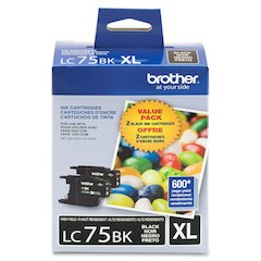 Brother LC75BK Ink Cartridge - Inkjet - 2 / Pack