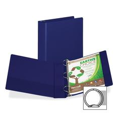 "Samsill Earth's Choice Bio-based Round Ring Storage Binder - 2"" Binder Capacity - Round Ring Fastener - 2 Internal Pocket(s) - Polypropylene - Blue - Recycled - 1 Each"