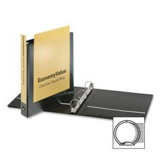 "Cardinal EconomyValue ClearVue Round Ring Binder - 1 1/2"" Binder Capacity - Letter - 8 1/2"" x 11"" Sheet Size - 350 Sheet Capacity - 1 3/5"" Spine Width - 3 x Round Ring Fastener(s) - 2 Inside Front & B"