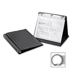 "Cardinal Easel Ring Binder, Horizontal w/10 sheets - 1"" Binder Capacity - Letter - 8 1/2"" x 11"" Sheet Size - 225 Sheet Capacity - 3 x Round Ring Fastener(s) - Vinyl - Black - 1 Each"