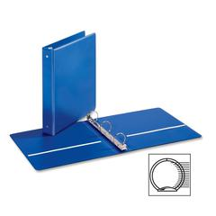 "Cardinal EconomyValue Round Ring Binder - 1 1/2"" Binder Capacity - Letter - 8 1/2"" x 11"" Sheet Size - 350 Sheet Capacity - 3 x Round Ring Fastener(s) - 2 Inside Front & Back Pocket(s) - Vinyl - Blue -"