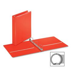 "Cardinal EconomyValue Round-ring Binders - 1 1/2"" Binder Capacity - Letter - 8 1/2"" x 11"" Sheet Size - 350 Sheet Capacity - 3 x Round Ring Fastener(s) - 2 Inside Front & Back Pocket(s) - Vinyl - Red -"