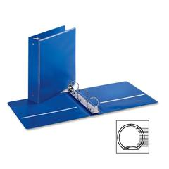"Cardinal EconomyValue Round Ring Binder - 2"" Binder Capacity - Letter - 8 1/2"" x 11"" Sheet Size - 475 Sheet Capacity - 3 x Round Ring Fastener(s) - 2 Inside Front & Back Pocket(s) - Vinyl - Blue - 1 E"