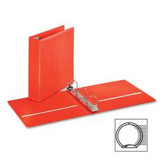 "Cardinal EconomyValue Round Ring Binder - 2"" Binder Capacity - Letter - 8 1/2"" x 11"" Sheet Size - 475 Sheet Capacity - 3 x Round Ring Fastener(s) - 2 Inside Front & Back Pocket(s) - Vinyl - Red - 1 Ea"