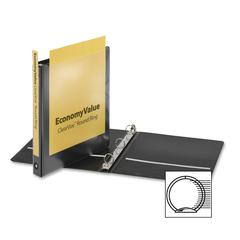 "Cardinal EconomyValue ClearVue Round Ring Binder - 1"" Binder Capacity - Letter - 8 1/2"" x 11"" Sheet Size - 225 Sheet Capacity - 1"" Spine Width - 3 x Round Ring Fastener(s) - 2 Inside Front & Back Pock"