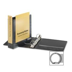 "EconomyValue ClearVue Round Ring Binder - 2"" Binder Capacity - Letter - 8 1/2"" x 11"" Sheet Size - 475 Sheet Capacity - 2 1/2"" Spine Width - 3 x Round Ring Fastener(s) - 2 Inside Front & Back"