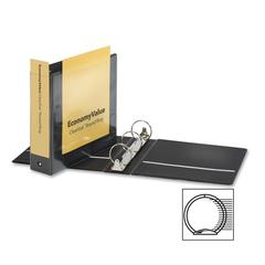 "Cardinal EconomyValue ClearVue Round-Ring Binders - 3"" Binder Capacity - Letter - 8 1/2"" x 11"" Sheet Size - 625 Sheet Capacity - 2 29/32"" Spine Width - 3 x Round Ring Fastener(s) - 2 Inside Front & Ba"