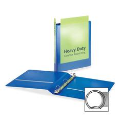 """Cardinal HeavyDuty ClearVue Round Ring Binder - 1"""" Binder Capacity - Letter - 8.50"""" x 11"""" Sheet Size - 225 Sheet Capacity - 1"""" Spine Width - 3 x Round Ring Fastener(s) - 2 Inside Front & Back Pocket(s"""