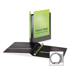 """Cardinal HeavyDuty ClearVue Round Ring Binder - 1"""" Binder Capacity - Letter - 8 1/2"""" x 11"""" Sheet Size - 225 Sheet Capacity - 1"""" Spine Width - 3 x Round Ring Fastener(s) - 2 Inside Front & Back Pocket("""