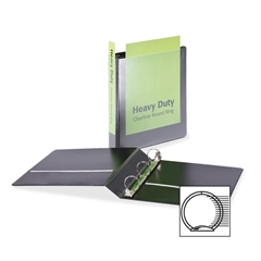 """Cardinal HeavyDuty ClearVue Round Ring Binder - 1.50"""" Binder Capacity - Letter - 8.50"""" x 11"""" Sheet Size - 350 Sheet Capacity - 1.60"""" Spine Width - 3 x Round Ring Fastener(s) - 2 Inside Front & Back Po"""