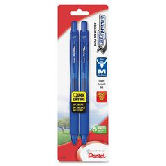 EnerGel-X Retractable Liquid Gel Pen - Medium Point Type - 0.7 mm Point Size - Refillable - Blue Gel-based Ink - Blue Barrel - 2 / Pack