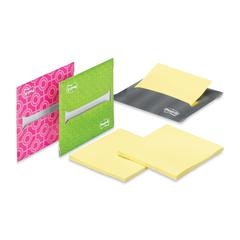 """Post-it Super Sticky Laptop Note Dispenser - 3"""" x 3"""" - Holds 20 Sheet of Note - Assorted"""