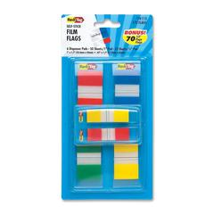 """Redi-Tag Self-stick Pop-Up Flag Combo Pack - 270 - 1"""", 0.50"""" - Assorted - Removable, Repositionable, Pop-up, Non-toxic, PVC-free, Latex-free - 1 / Pack"""