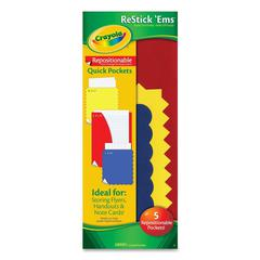 Crayola Restick'Ems Repositionable Quick Pockets - Assorted - 3/Pack