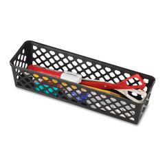 Long Supply Storage Basket - Black - Plastic