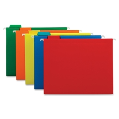 "Globe-Weis Colored Hanging Folder - Letter - 8.50"" x 11"" Sheet Size - 1/5 Tab Cut - Assorted Position Tab Location - 11 pt. Folder Thickness - Assorted - Recycled - 25 / Box"