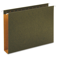 "Globe-Weis Green Hanging Box Bottom Folders - Legal - 8.50"" x 14"" Sheet Size - 2"" Expansion - 1/5 Tab Cut - 11 pt. Folder Thickness - Green - Recycled - 25 / Box"