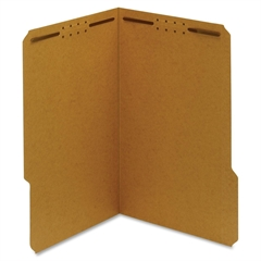 "Globe-Weis Kraft Fastener Folder - Legal - 8.50"" x 14"" Sheet Size - 0.75"" Expansion - Prong K Style Fastener - 2"" Fastener Capacity for Folder - 1/3 Tab Cut - Right of Center Tab Location - 17 pt. Fol"