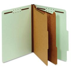 "Pendaflex 2-divider Recycled Classifictn Folders - Letter - 8 1/2"" x 11"" Sheet Size - 2 1/2"" Expansion - 4 Fastener(s) - 2"" Fastener Capacity, 1"" Fastener Capacity for Divider - 2/5 Tab Cut - Right Ta"