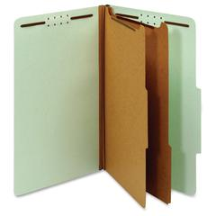 "Pendaflex 2-divider Recycled Classifictn Folders - Legal - 8 1/2"" x 14"" Sheet Size - 2 1/2"" Expansion - 6 Fastener(s) - 2"" Fastener Capacity - 2/5 Tab Cut - Right Tab Location - 2 Divider(s) - 25 pt."