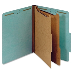 "Globe-Weis Colored Pressboard Classification Folder - Letter - 8.50"" x 11"" Sheet Size - 2.50"" Expansion - 6 Fastener(s) - 2"" Fastener Capacity for Folder, 1"" Fastener Capacity for Divider - 2/5 Tab Cu"