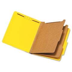 """Globe-Weis Colored Pressboard Classification Folder - Letter - 8.50"""" x 11"""" Sheet Size - 2.50"""" Expansion - 6 Fastener(s) - 2"""" Fastener Capacity for Folder, 1"""" Fastener Capacity for Divider - 2/5 Tab Cu"""
