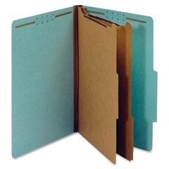 """Globe-Weis Classification Folder - Legal - 8.50"""" x 14"""" Sheet Size - 2.50"""" Expansion - 6 Fastener(s) - 2"""" Fastener Capacity for Folder, 1"""" Fastener Capacity for Divider - 2/5 Tab Cut - Right of Center"""