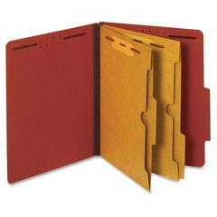 """Pendaflex Pocket Divider Classification Folders - Letter - 8 1/2"""" x 11"""" Sheet Size - 2 1/2"""" Expansion - 4 Fastener(s) - 2"""" Fastener Capacity for Folder, 1"""" Fastener Capacity for Divider - 2 Pocket(s)"""