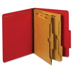 """Globe-Weis 2-Pocket Divider Classification Folder - Letter - 8.50"""" x 11"""" Sheet Size - 2.50"""" Expansion - 4 Fastener(s) - 2"""" Fastener Capacity for Folder, 1"""" Fastener Capacity for Divider - 2 Pocket(s)"""