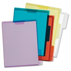 """Pendaflex Folder Viewers - Letter - 8 1/2"""" x 11"""" Sheet Size - Polypropylene - Blue, Green, Red, Yellow, Clear - 5 / Pack"""