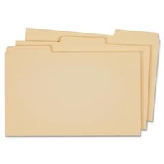 "Globe-Weis 1/3 Cut Manila Self Tab File Guides - 1 - Tab(s)Blank - 3 Tab(s)/Set - 8.50"" Divider Width x 11"" Divider Length - Letter - Manila Paper Tab - 100 / Box"