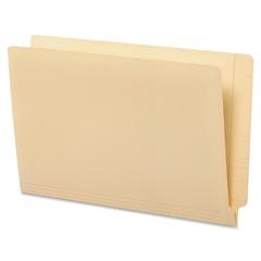 "Globe-Weis End Tab Folder - Legal - 8.50"" x 14"" Sheet Size - 0.75"" Expansion - 11 pt. Folder Thickness - Manila - Manila - Recycled - 100 / Box"