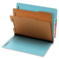 """Globe-Weis Bright Color End Tab Classification Folder - Letter - 8.50"""" x 11"""" Sheet Size - 2.50"""" Expansion - 6 Fastener(s) - 2"""" Fastener Capacity for Folder - 2 Divider(s) - 25 pt. Folder Thickness - P"""
