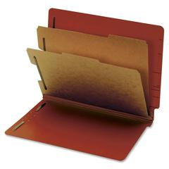 "Globe-Weis Standard Color End Tab Classification Folders - Letter - 8.50"" x 11"" Sheet Size - 2.50"" Expansion - 4 Fastener(s) - 2"" Fastener Capacity for Folder - 2 Divider(s) - 25 pt. Folder Thickness"