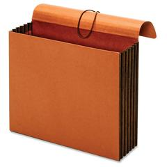 "Pendaflex Extra Wide Tyvek Wallets - Letter - 8 1/2"" x 11"" Sheet Size - 1200 Sheet Capacity - 5 1/4"" Expansion - Top Tab Location - Redrope, Plastic - Brown - 1 Each"