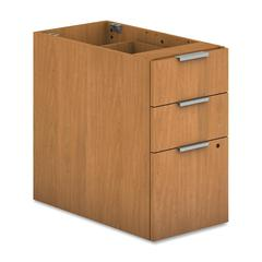 "Voi Support Pedestal - 16"" x 30"" x 28.3"" - 3 x Box Drawer(s), File Drawer(s) - Finish: Harvest, Laminate"
