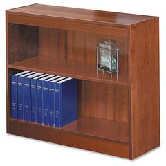 """Safco Square-Edge Bookcase - 36"""" x 12"""" x 30"""" - 2 x Shelf(ves) - 200 lb Load Capacity - Cherry - Veneer - Particleboard, Wood - Recycled - Assembly Required"""
