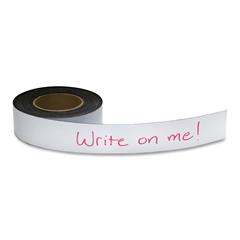 "Baumgartens Magnetic Labeling Tape - 2"" Width x 50 ft Length - Reusable, Repositionable - 1 / Roll - White"