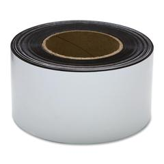"Magnetic Labeling Tape - 3"" Width x 50 ft Length - Reusable, Repositionable - 1 / Roll - White"