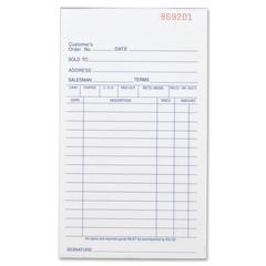 """Business Source All-Purpose Forms Book - 50 Sheet(s) - 2 Part - Carbonless Copy - 7"""" x 4.12"""" Sheet Size - 1 Each"""