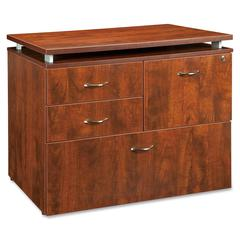 "Ascent File Cabinet - 35.5"" x 21.9"" x 29.5"" - 4 x Drawer(s) for File - Letter, Legal - Durable, Locking Drawer, Leveling Glide, Stain Resistant, Scratch Resistant, Ball-bearing Suspension - Che"