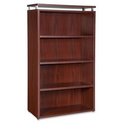 "Lorell Four-shelf Bookcase for Ascent and Concordia Series - 31.5"" x 13.8"" x 47.3"" - 4 x Shelf(ves) - 176 lb Load Capacity - Durable, Stain Resistant, Scratch Resistant, Leveling Glide, Adjustable Gli"