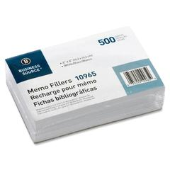 """Business Source Unruled Memo Filler Sheets - 500 Sheets - Plain - 4"""" x 6"""" - White Paper - 500 / Pack"""