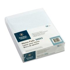 "Memorandum Pad - 50 Sheets - Printed - Glue - 16 lb Basis Weight - Letter 8.50"" x 11"" - White Paper - 1Dozen"
