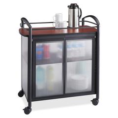 "Impromptu Refreshment Cart - 440.92 lb Capacity - 4 Casters - 2.50"" Caster Size - Steel - 34"" Width x 21.3"" Depth x 36.5"" Height - Steel Frame - Black"
