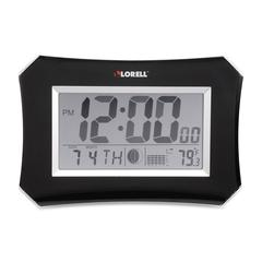 Lorell LCD Wall/Alarm Clock - Digital
