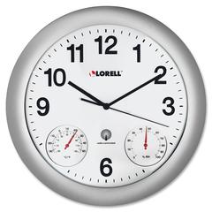 Lorell Analog Temperature/Humidity Wall Clock - Analog